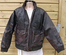 Global Identity G-III Heavy Brown Leather A2 Flying /Aviator / Pilot Jacket - XL