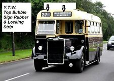 BUS / COACH / TRUCK -BUBBLE SIGN TOP Window Glazing Rubber Seal & Filler 4mm
