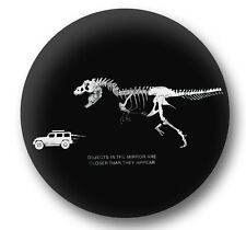 Jeep Tire Cover PU Leather  Jurassic T-Rex chasing Jeep Fits 27-33 Inch Diameter