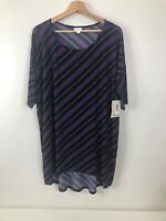 Lularoe Women's XL Irma NWT Navy With Colorful Spirals