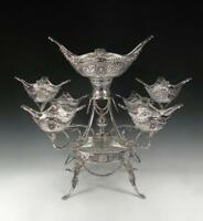 Sterling Silver Epergne. Hand Made. Asprey London. Stunning. 7 Large Baskets.
