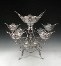 Sterling Silver Epergne. Hand Made. Asprey London. Stunning. 7 Large Baskets.