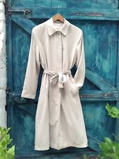 Womens Raincoat Size 10 Ivory Vintage Talbots Faux Suede Microfibre Mac Trench