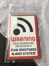 Alarm Warning Sticker