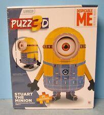 Puzz 3D Despicable Me Stuart The Minion 3D Puzzle Beginners 91 Piece 8+ NIP