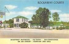 rockaway courts cottages little rock arkansas L4371 antique postcard