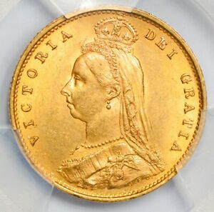 UNCIRCULATED 1887 Victoria Jubilee Head Gold Half Sovereign - 1ST YEAR OF TYPE