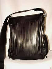 Leonello BORGHI Dark Brown Genuine Deerskin Leather Cross-body Bag