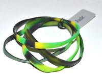 NEW Pack of 4 green camouflage plastic bracelets fashion costume jewellery mens