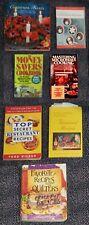 Great Lot Of 6 Cook Books+Dvd-Christmas Martha Stewart,Favorite Recipes,Microwav