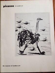 Museum Of Modern Art New York Picasso 1952 Redon Catalogue Graphic Art