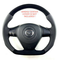 Steering Wheel Mazda RX8  NEW PERORATED AND ALCANTARA ! FLAT BOTTOM ! R8 STYLE