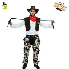 Adult western cowboy Costume  halloween western Mens for party cosplay
