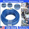 "Air Compressor Hose 50 ft 1/4"" MNPT PVC Pneumatic Pipe Fittings 300PSI Flexible"