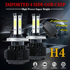 2X 4Side H4 9003 Led Headlight 180W 32500Lm 6000K High Low Beam Bulb Canbus Emc (Fits: Subaru)