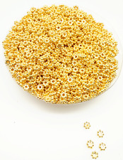 Gold Color Tiny Daisy Acrylic Spacer Loose Beads DIY Jewelry 500Pcs 4mm
