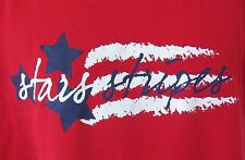 Stars & Stripes American Us Flag Distressed Look Red White Blue T-Shirt L Large