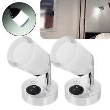 12V LED Interior Spot Reading Light Adjustable For Camper Caravan Boat Motorhome