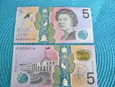 AUSTRALIE 5 Dollars Polymère Nouveau  Billet non circulé Uncirculated banknote