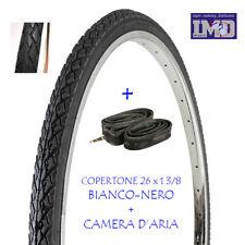 Copertone BN + Camera d'aria 26 x1 3/8 da DONNA per bicicletta CLASSICA VINTAGE