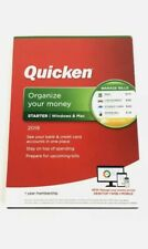 Quicken Starter 2019 Organize Your Money Windows & Mac NEW 1 YEAR Membership