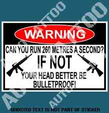 CAN YOU RUN WARNING DECAL STICKER FUNNY HUMOR NOVELTY DECALS STICKERS 150mm