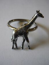 Giraffe Emblem Made From Fine English Pewter on a Scarf Ring codew8