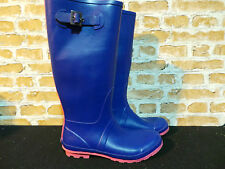 Ladies ALDO Wellington Boots Blue And Pink UK 7 EURO 40 ONLY £25 NEW