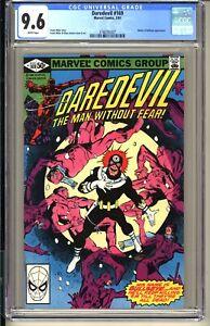 DAREDEVIL #169  CGC 9.6 WP NM+ Marvel Comics 1981  Frank Miller Bullseye Elektra