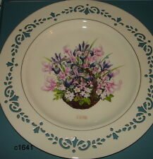 Lenox Colonial Bouquet Plate 1996 Massachusetts mint in box Second In Series