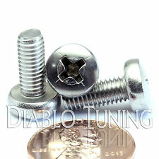 M5 x 12mm - Qty 10 - Stainless Steel Phillips Pan Head Machine Screws DIN 7985 A