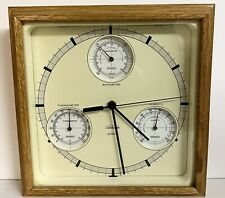 Vintage SUNBEAM Quartz Clock Thermometer Barometer Weather Station Tested Works