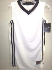 Nike, Youth Baseline Jersey Basketball White/Black Boys Medium, New