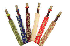 Beautiful Novelty Gift Set of 6 Wooden Chop Sticks in Chinese Style Holder