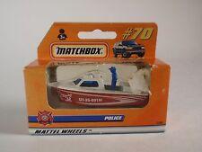 1998 Matchbox Mattel Wheels Police Boat Launch #70 UT-35-091M MIB Sealed 37505