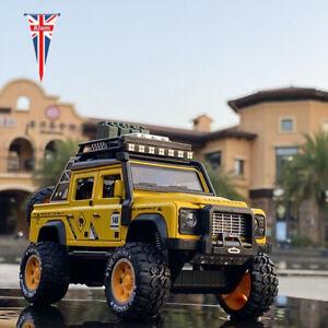 1:28 Land Rover Defender Pickup Car Alloy Shine Car Model Pull Back Gift Kid Toy