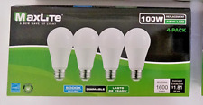 4 Pack 100 Watt Equivalent 15w MaxLite LED A type Light Bulb Dimmable FREE SHIP