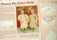 "Uncut Orig Pattern fits 16"" Jumeau / French Fashion Dolls Pleated Pin Tuck Dress"