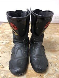 Mens Sidi Motorbike Boots Size 11.5 UK Eur 46 Black