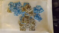 25 off paper used 1st class Large Gold, 25 2nd large Blue,none security.