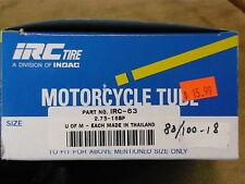 IRC New inner tube 80/100 18
