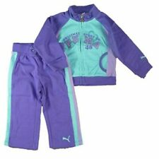 PUMA Baby Kinder Mädchen Jogginganzug Jacke + Hose Lila Türkis Trainingsanzug 80