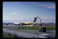 1967 USAF 40611 Lockheed C-141A Starlifter Airplane in Anchorage, Orig Slide d1b