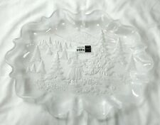 "Mikasa Holiday Classics Large 17"" Oval Platter Girl & Christmas Tree Germany"