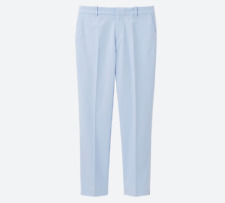UNIQLO WOMEN DRY STRETCH CROPPED TROUSERS - BLUE - 26INCH