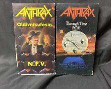 RARE ANTHRAX VHS LOT OIDIVNIKUFESSIN NFV THROUGH TIME POV 1987 LIVE 1990 THRASH