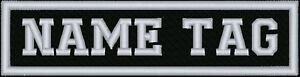 Rectangular 1 Line Custom Embroidered Biker SEW ON  Name Tag PATCH (WB)