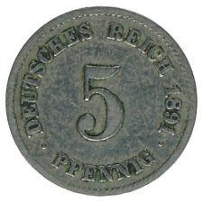 Deutsches Reich 5 Pfennig 1891 F A50499