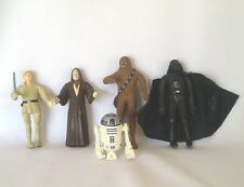 5 Star Wars Bend-Ems Action Figures RUBBER Just Toys 1993 R2D2 Darth Vadar VTG