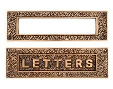 Large Rice pattern mail slot solid bronze reproduction